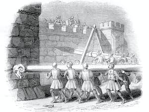 a battering ram was often used to attack a medieval castle