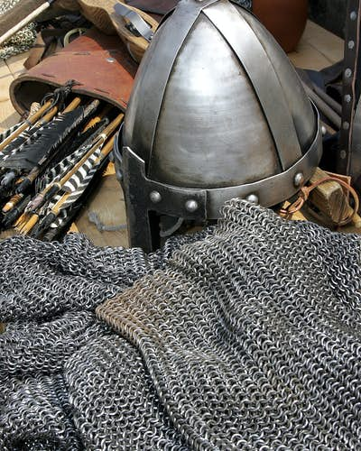Chain mail was a common type of medieval armor