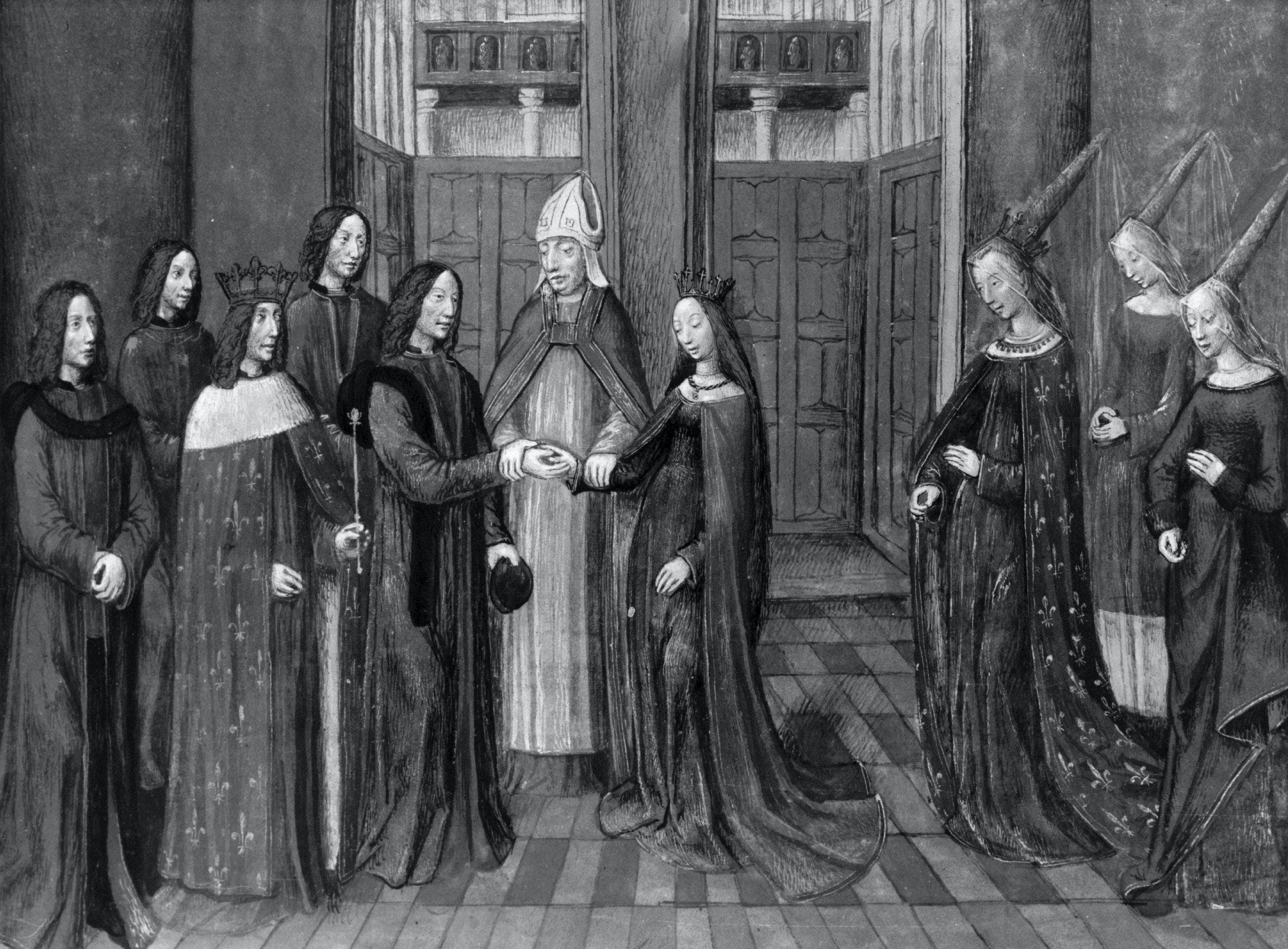 In Medieval Times, marriages were often arranged